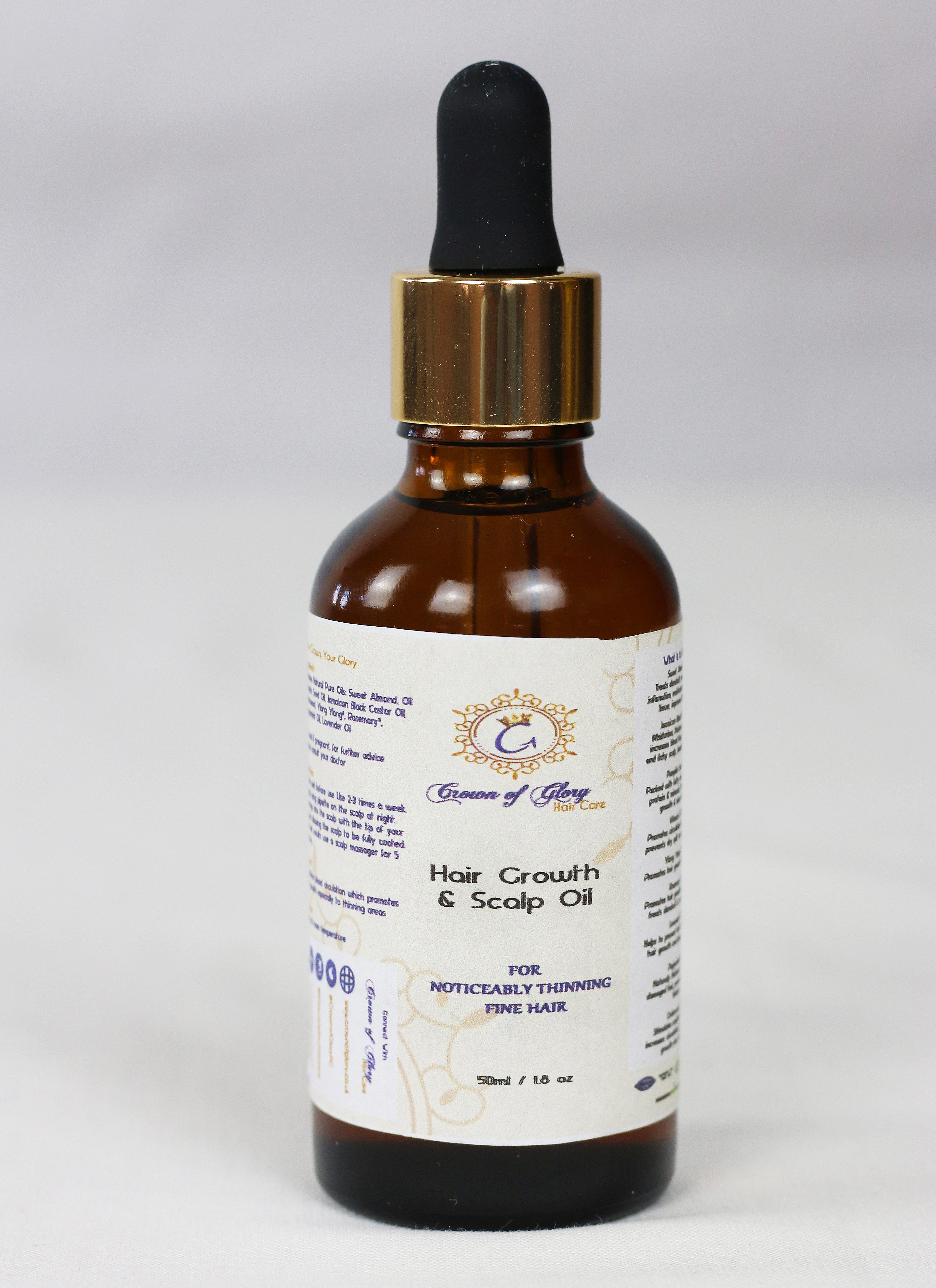 hair growth oil crown of glory alopecia thinning make hair thicker